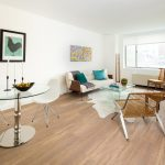 Modern apartment interior with midcentury modern furnishings