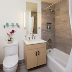 Apartment bathroom interior